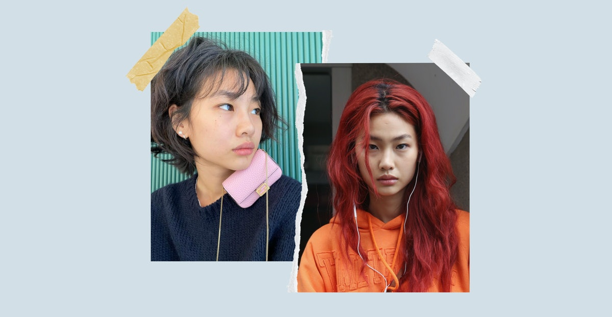 Two of 'Squid Game' actor Jung Ho-yeon's best beauty looks: her wavy bob and bangs and her bright re...