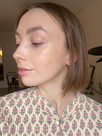 Erika's skin after application