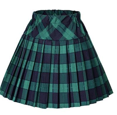 Tartan Pleated School Skirt