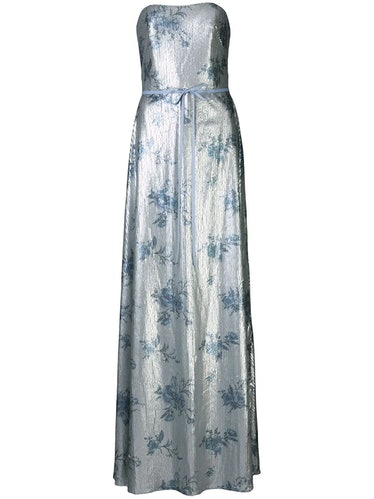 Sequin embellished bridesmaid gown from Marchesa Notte Bridesmaids, available to shop on Farfetch.