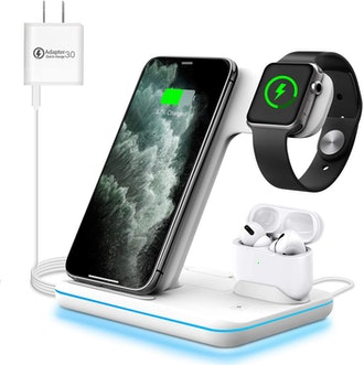 WAITIEE 3-in-1 Wireless Charging Station