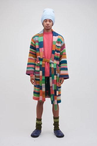 The Elder Statesman Stripe Super Soft Robe