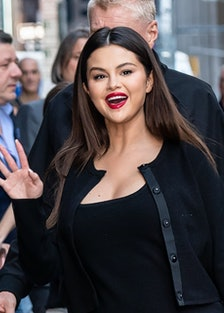 Selena Gomez waves hello.