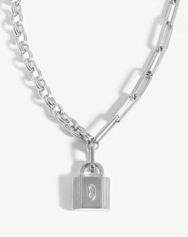 Ridge Padlock Chain Necklace from Missoma.