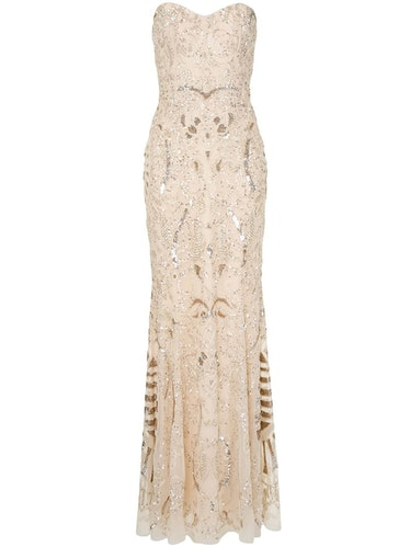 Zuhair Murad strapless beaded fishtail gown