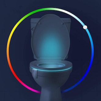 Chunance 16-Color Toilet Bowl Night Light