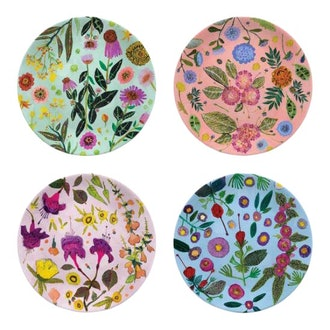 Kenneth Ludwig Chicago Wildflowers Plates - Set of 4