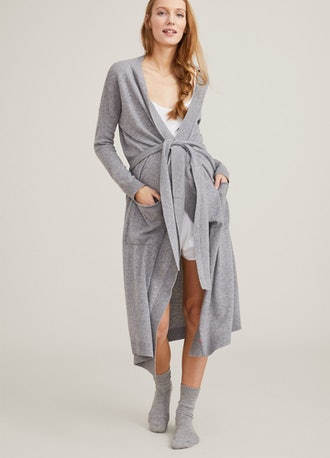Charcoal cashmere maternity robe from HATCH.