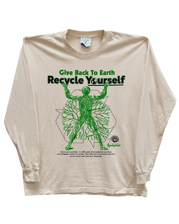 Online Ceramics Recycle Yourself Long-Sleeve T-Shirt