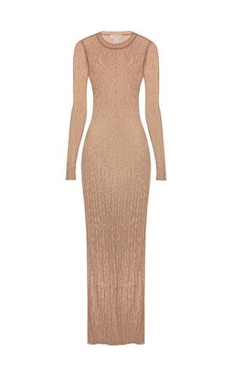 Sheer Second Skin Knit Maxi Dress