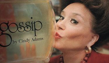 Cindy Adams with perfume Gossip by Cindy Adams.