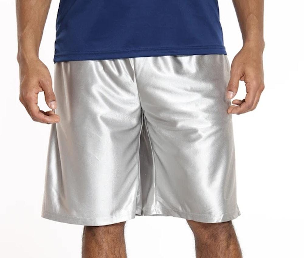 Men's Solid Heavy Dazzle Short - Silver