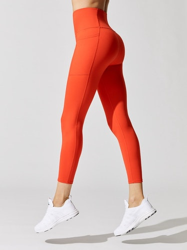 High Rise 7/8 Legging With Pockets in Cloud Compression
