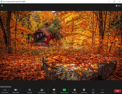 These fall Zoom backgrounds include a cozy scene in the country.