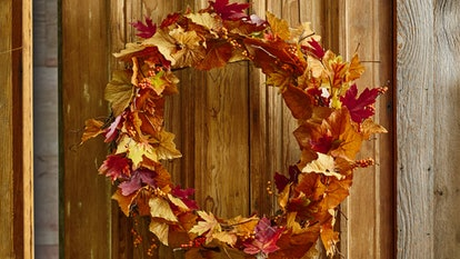 These fall Zoom backgrounds include a festive wreath.