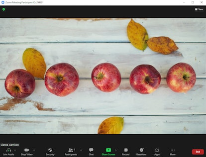These Zoom backgrounds for fall include crisp apples.