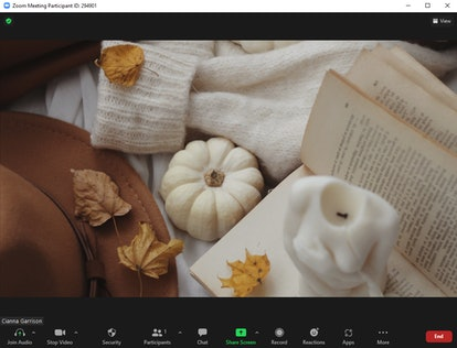 These fall Zoom backgrounds include a cozy reading scene.
