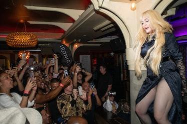 Madonna on a column.