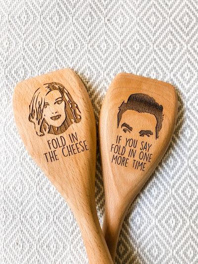 Modern Darlin David Rose & Moira Rose Wooden Spoon Set