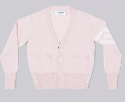 Pink Cashmere 4-Bar V-neck Cardigan
