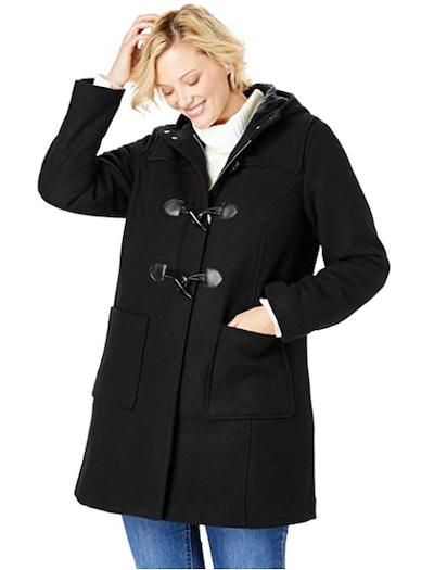 Woman Within Plus-Size Duffle Coat