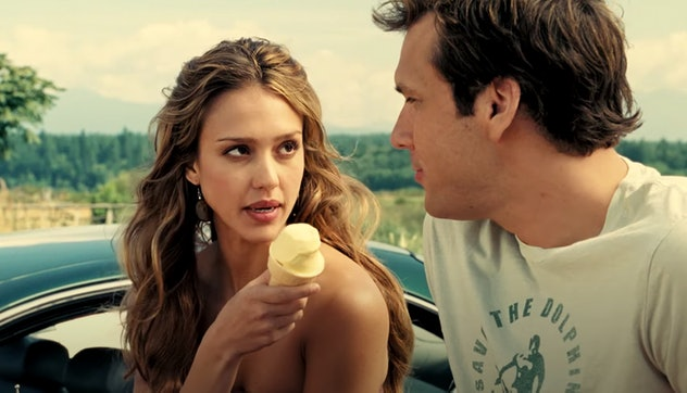 Dane Cook and Jessica Alba star in the 2007 film 'Good Luck Chuck.'