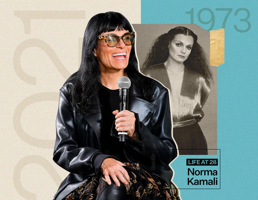 Norma Kamali, designer and now author, remembers where she was at 28.