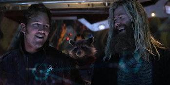 Chris Pratt and Chris Hemsworth in Avengers: Endgame