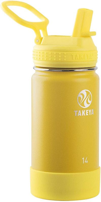 Takeya Kids Insulated Water Bottle With Straw Lid (14 Oz.)