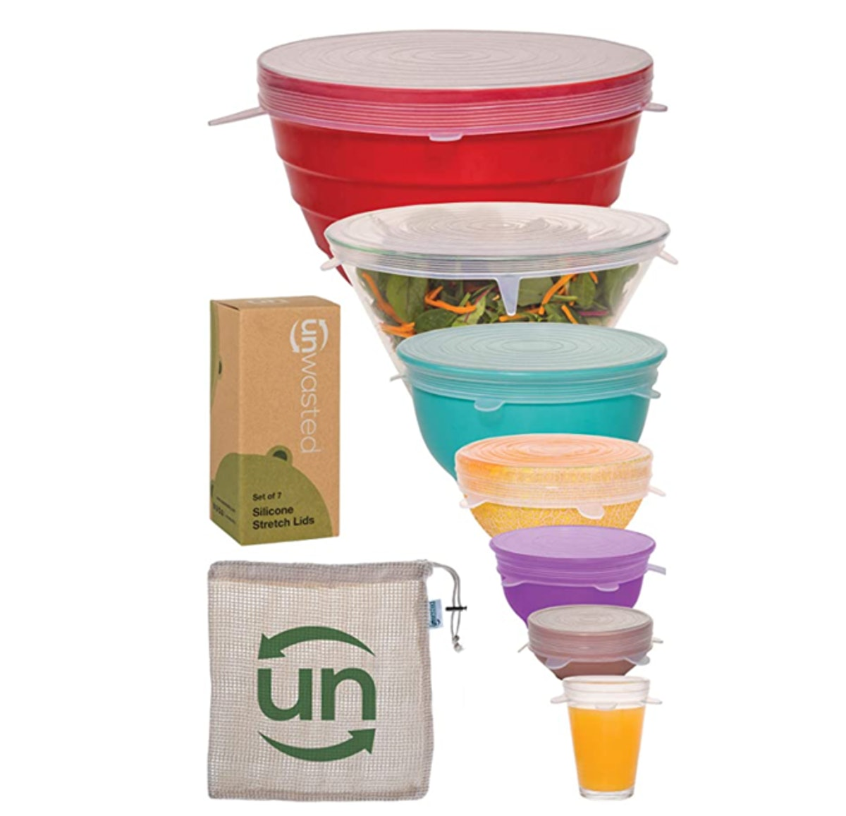 unwasted Silicone Stretch Lids (7-Pack)