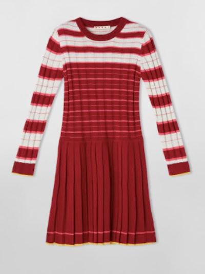 Knit Dress with Stripes