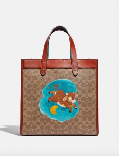 Lunar New Year Field Tote In Signature Canvas With Ox