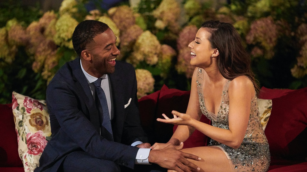 Katie Thurston and Matt James getting to know each other on Season 25 of 'The Bachelor'