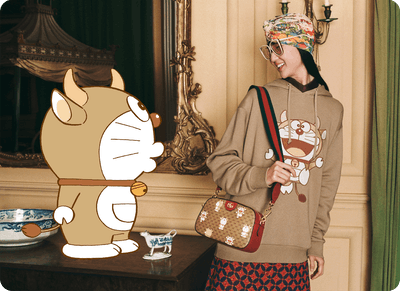 To honor and celebrate Chinese New Year, Gucci's creative Director Alessandro Michele releases dedicated collection of special items and a campaign that feature Doraemon.