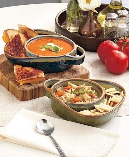 Stoneware Chip, Dip, Soup & Side Bowls (2-Pack)