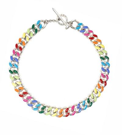 Unicorn Rainbow Chunky Chain Collar Necklace