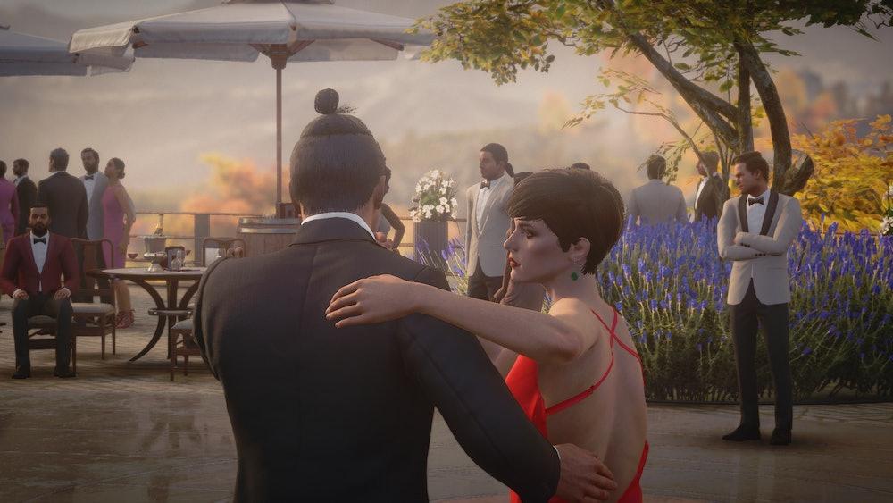 a man and woman dance the tango in Hitman 3
