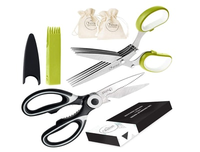 Chefast Kitchen Shears and Herb Scissors Set