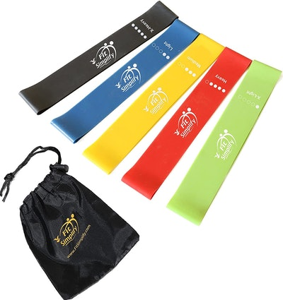 Fit Simplify Resistance Loop Exercise Bands (5-Pack)