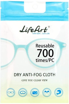 LifeArt Eyeglasses Anti-Fog Cleaning Cloths (5-Pack)