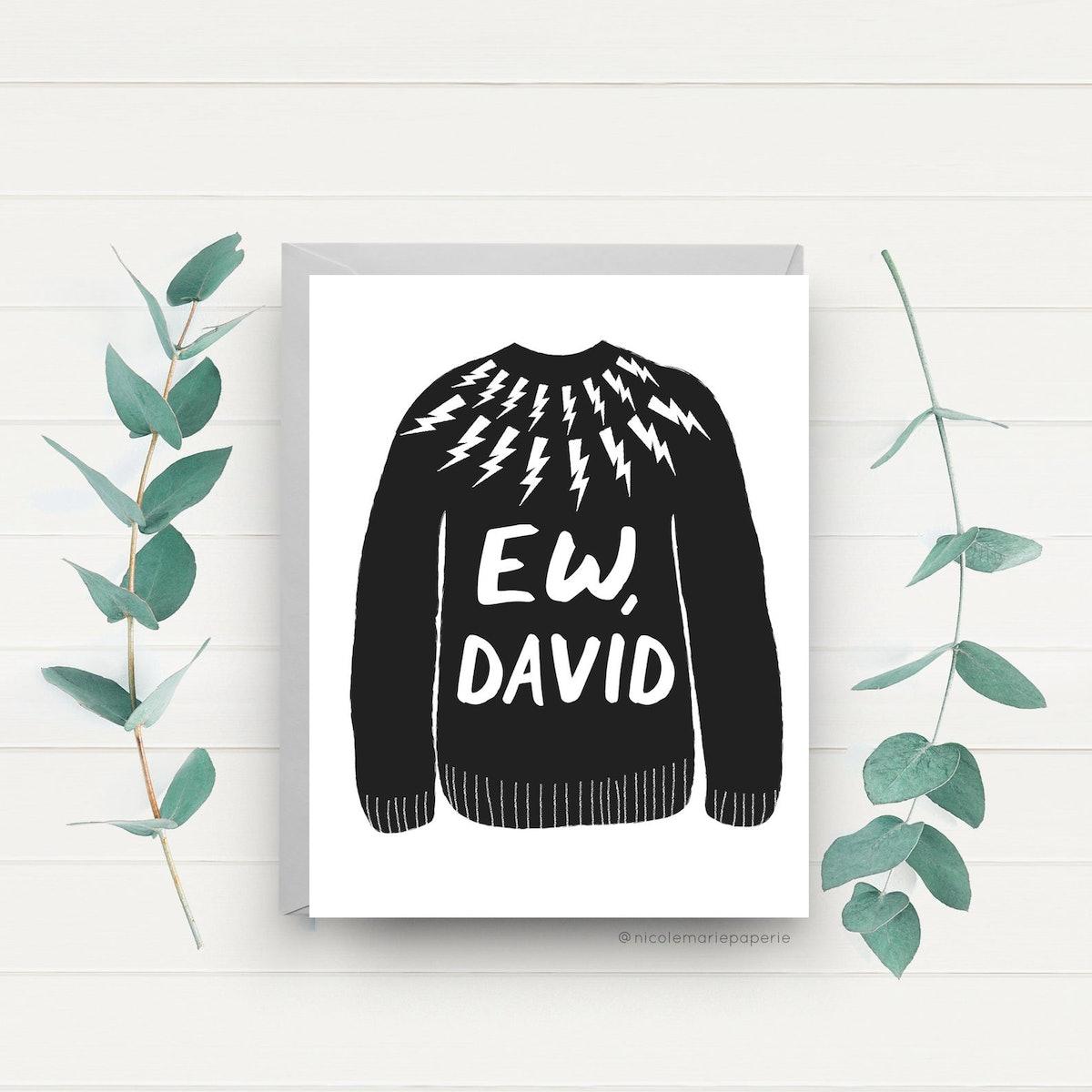 Ew, David, Funny Card
