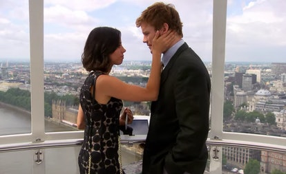 April and Andy have a cute moment on the London Eye.