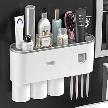 BUILDEC Toothbrush Holder and Bathroom Shelf