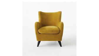 Amber Mustard Suede Chair