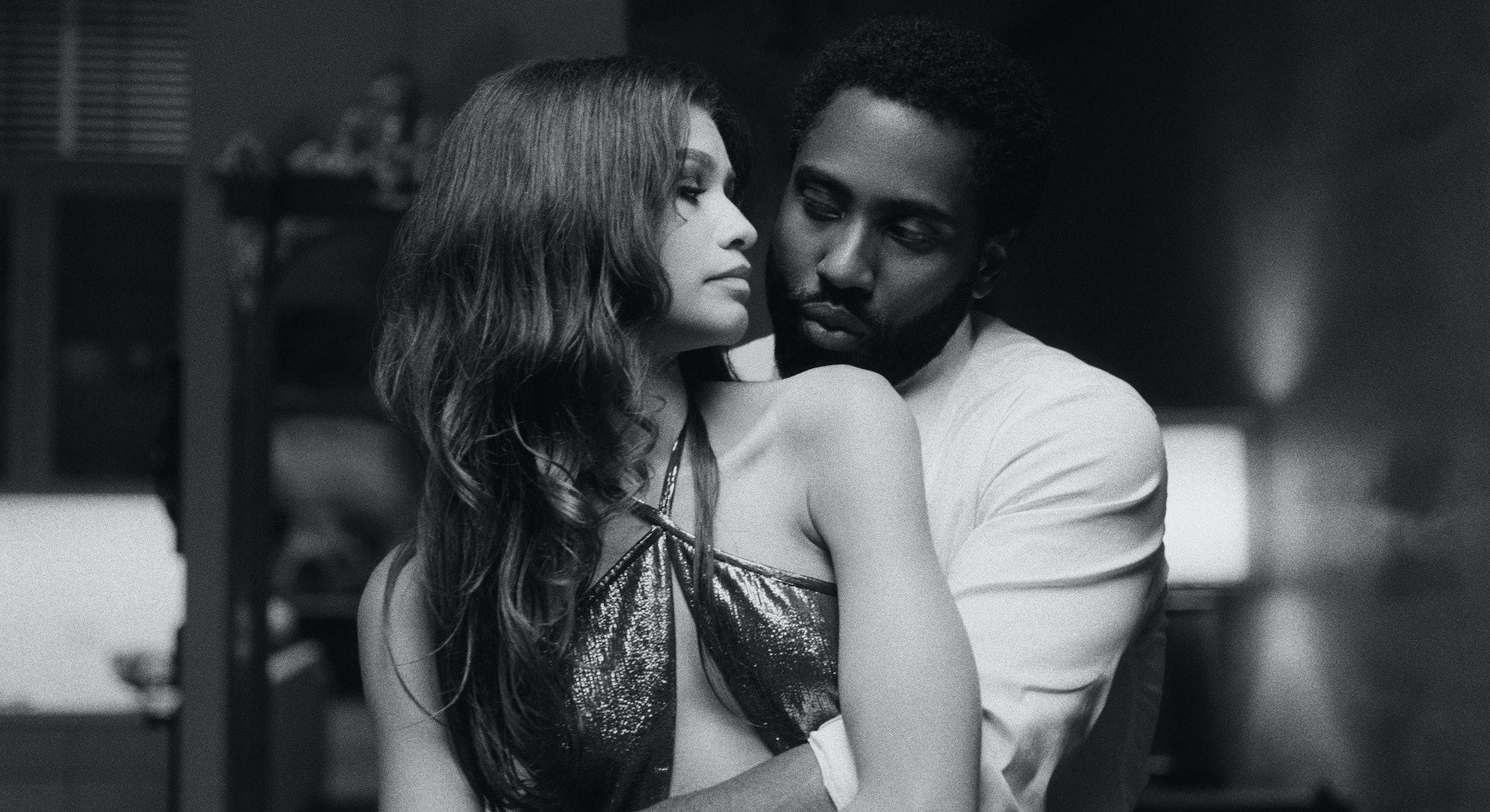 Zendaya and John David Washington in 'Malcolm & Marie,' via the Netflix press site.