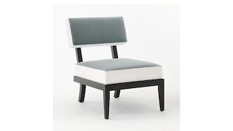 Otello Grey and White Velvet Chair