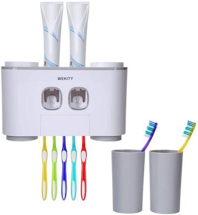 WekityToothbrush Holder and Toothpaste Dispenser