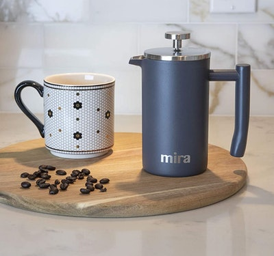 MIRA Stainless Steel French Press Coffee Maker (12 Oz.)