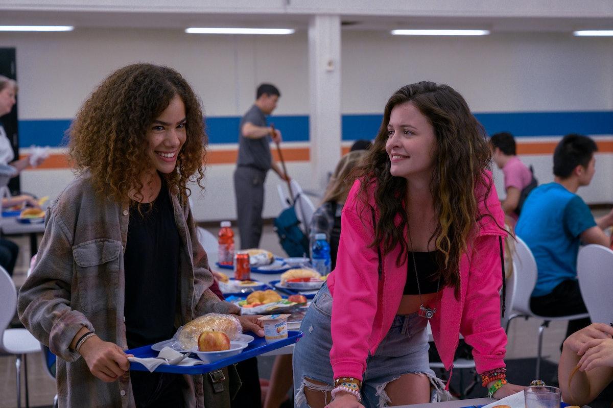 ANTONIA GENTRY as GINNY and SARA WAISGLASS as MAXINE in Netflix's 'Ginny & Georgia'