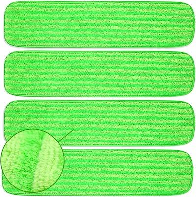 Turbo Microfiber Reusable Mop Pads (4-Pack)